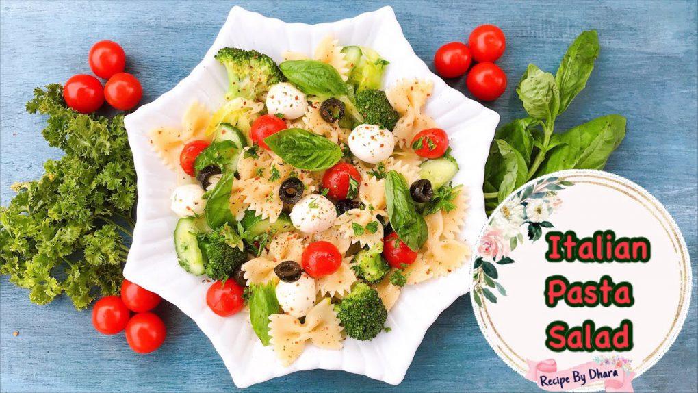 Italian pasta salad recipe   bow pasta salad recipe   the best Italian salad