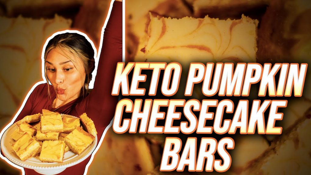 Keto Pumpkin Cheesecake Bars! Low Carb, Simple & Easy Recipe & ONLY 4G Net Carbs per Serving!