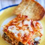 grilled vegetarian lasagna made with no bake lasagna noodles #lasagne #cheese #v…