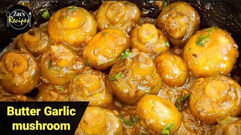 Garlic Mushrooms/Butter Garlic Mushroom Recipe/Mushroom Appetizer Recipes