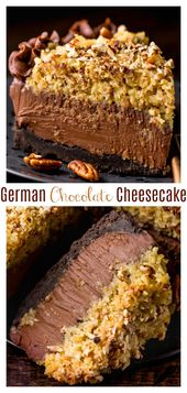 No-Bake German Chocolate Cheesecake – Baker by Nature