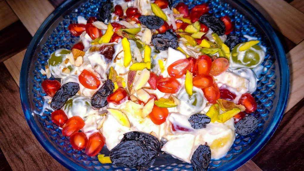 Creamy Fruit Salad Recipe By Feast With Ease   Fruit Chat   Easy Salad