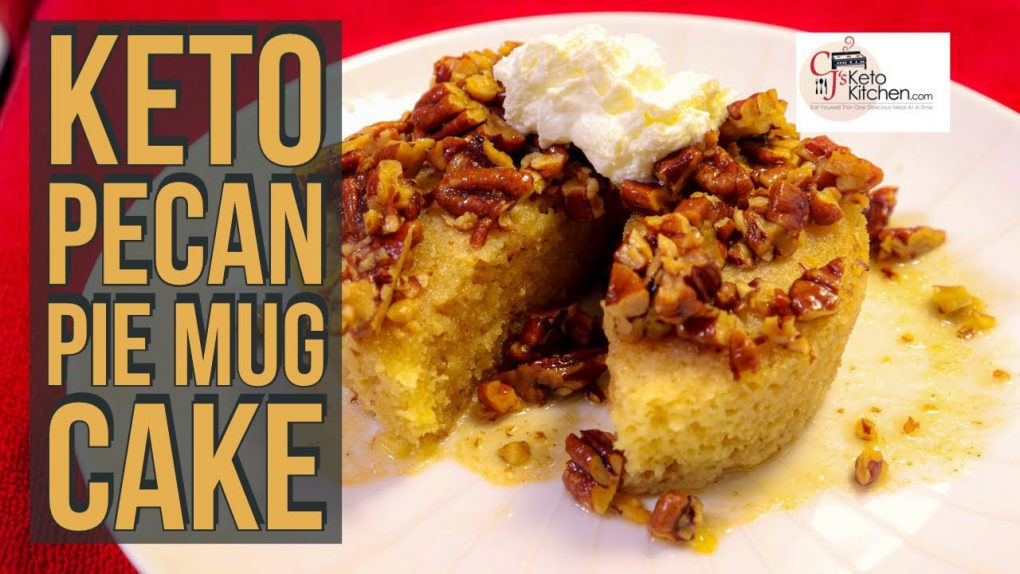 Keto Low Carb Pecan Pie Mug Cake #Ketorecipes #ketodesserts #lowcarbdesserts #atkinsdiet