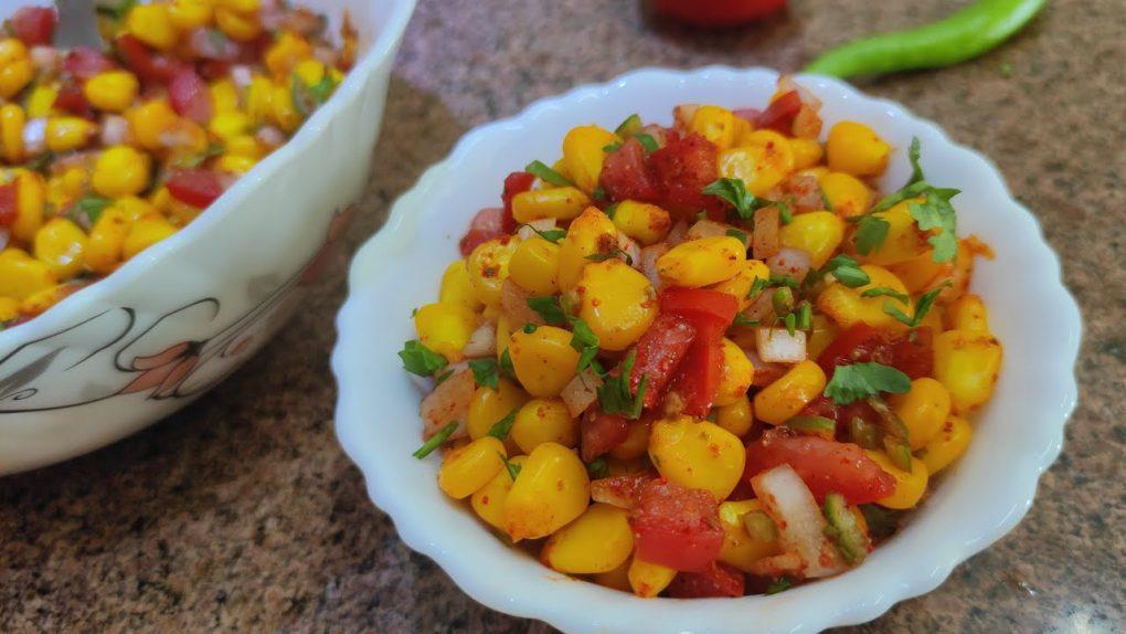 American Corn salad   Healthy & tasty sweet corn salad recipe