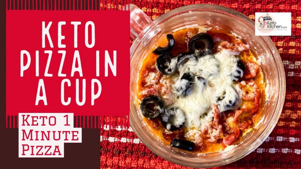 Keto Pizza In a Cup   Keto 1 Minute Microwave Pizza #KetoRecipes #LowCarbrecipes