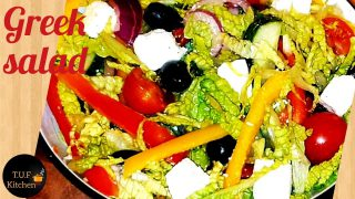 super healthy and easy greek salad recipe   by T.U.F.kitchen.20 October 2020.