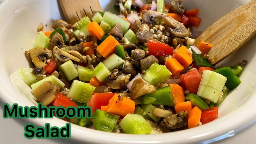 Mushroom Salad  Healthy Salad Recipe