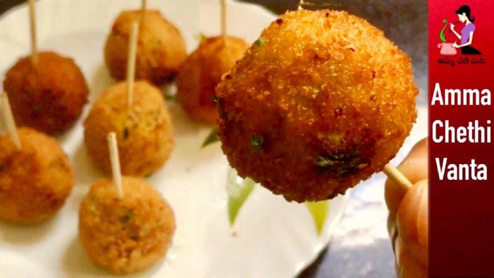 పిల్లలు ఎంతో ఇష్టపడే ఈజీ స్నాక్   Quick Evening Snack Recipe   How To Make Potato Lollipop In Telugu