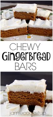 Chewy Gingerbread Bars | Jamie Cooks It Up – Family Favorite Food and Recipes…