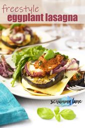 This freestyle eggplant lasagna will be the easiest and classiest vegetarian las…