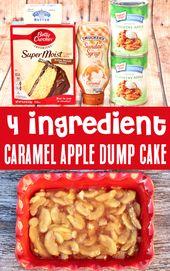 Caramel Apple Dump Cake Recipe! Just 4 Ingredients