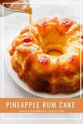 Pineapple Rum Cake