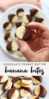 Chocolate Peanut Butter Banana Bites | Healthy Frozen Dessert Recipe |  Healthy Ideas