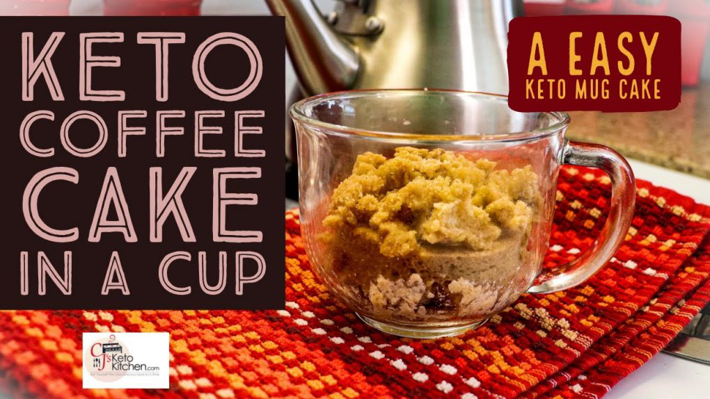 Keto Coffee Cake In a Cup #KetoMugCake #KetoRecipes #LowCarbRecipes