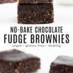 No Bake Vegan Brownies
