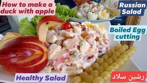 Russian Salad Recipe Best Healthy and Tasty Salad Best for all Parties How to make duck with apple 