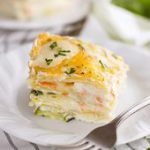 Easy Vegetable Lasagna with Alfredo Sauce | Mighty Mrs. | This vegetable lasagna…