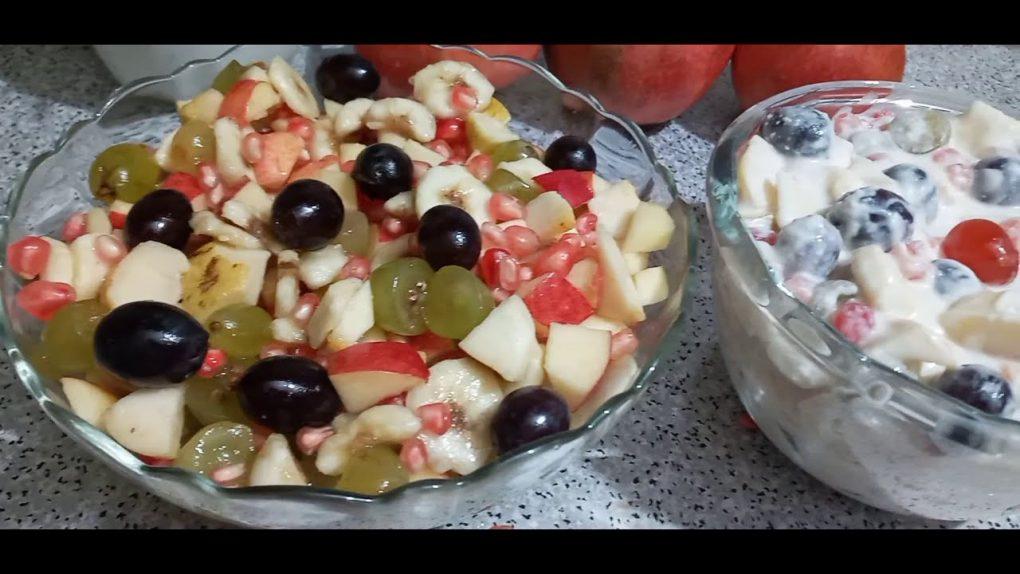 Fruit salad two way //fruit creamy salad  recipe by zn foodz