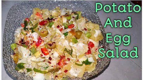 Potato salad recipe / Creamy potato egg salad/English potato egg salad recipe/انگلش پوٹیٹوایگ سلاد