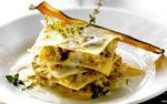 An easy vegetarian lasagna recipe, prepared with aubergines and gorgonzola: lear…