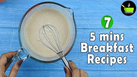 5 Minute Indian Breakfast Recipes  Homemade Instant Breakfast Mixes   Quick & Easy Breakfast Recipes