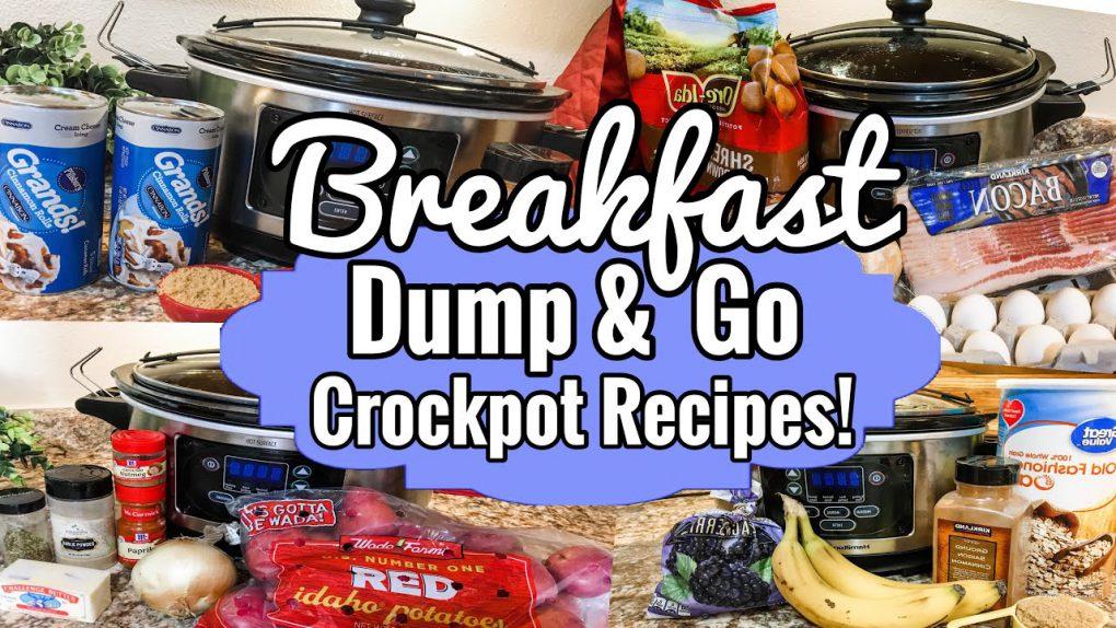 *FOUR* SIMPLE CROCKPOT BREAKFAST IDEAS | DUMP & GO SLOW COOKER RECIPES | JULIA PACHECO