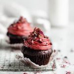 Raspberry Rose Chocolate Cupcakes for Two: one for you, one for your boo. Or two…