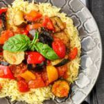 Spicy Ratatouille with Orzo. An outstanding vegetarian meal. A delicious, nutrit…