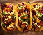 Coconut-Crusted Cauliflower Tacos with Avocado Crema…