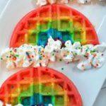 Rainbow Waffles   – Leckereien, Desserts & Süßes – #Desserts #Leckereien #Rain…