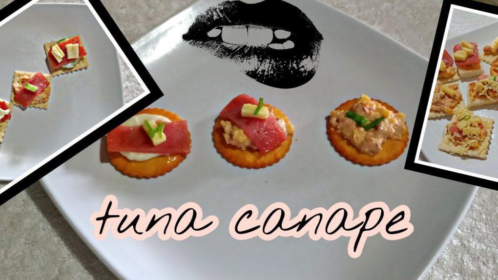 Tuna Canape | tuna ham and cheese canape recipe | Appetizer |philippines