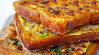Spicy Bread Omelette Toast Recipe | Masala Bread Toast Recipe | Quick Breakfast