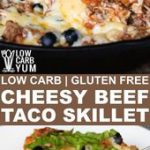 Cheesy Beef Taco Skillet Recipe with Cauliflower Rice