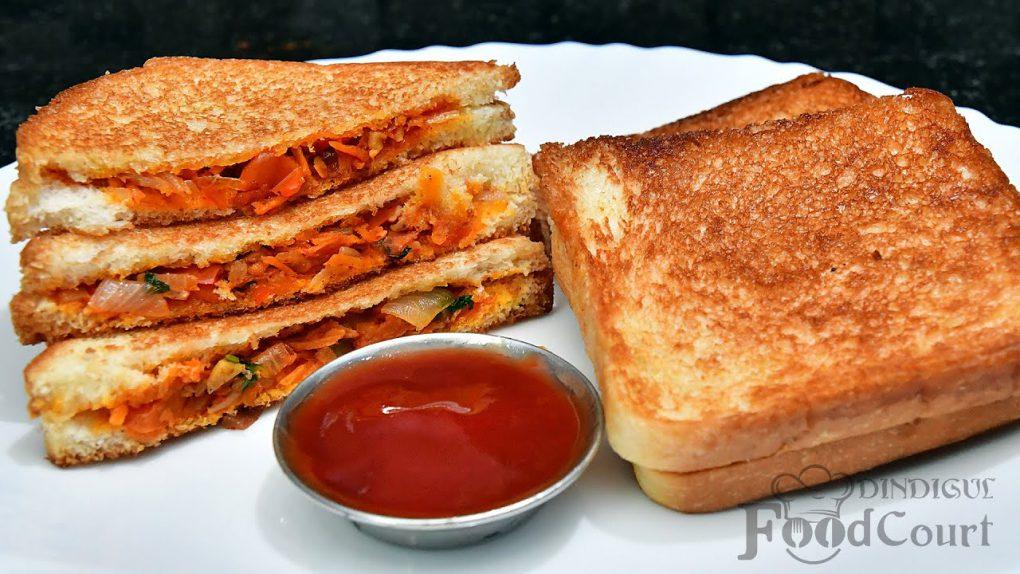 Quick Bread Sandwich Recipe/ Masala Bread Toast/ Bread Recipes