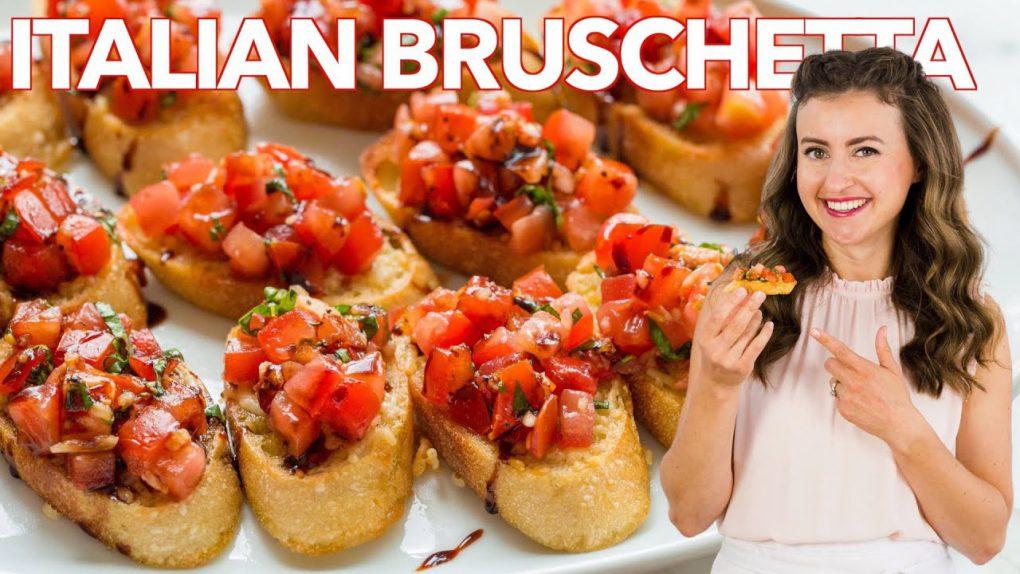 How to Make Italian BRUSCHETTA – Easy Appetizer