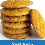 Easy soft low carb pumpkin cookies made with coconut flour with only 1 total car…