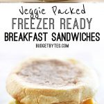 Veggie Packed Freezer Ready Breakfast Sandwiches are a filling, delicious, and m…
