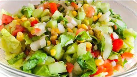 Mixed Vegetable Salad// Easy Salad recipe// Ensalada Mixta