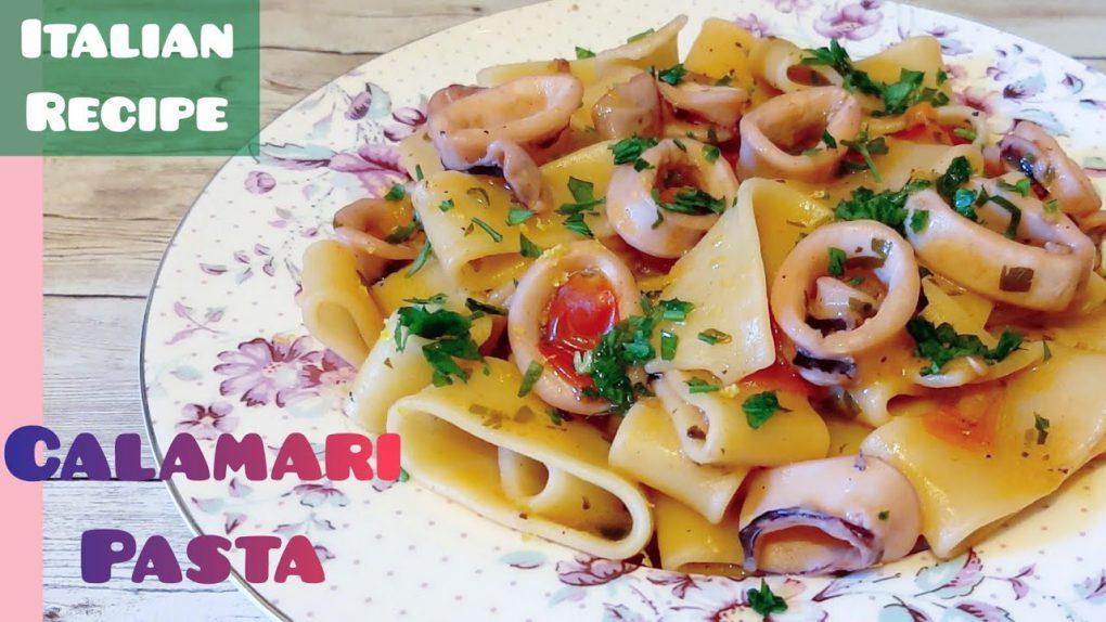CALAMARI PASTA | Italian Cuisine | Seafood Pasta Recipe | Healthy Recipe | Len Inspires Ep 59