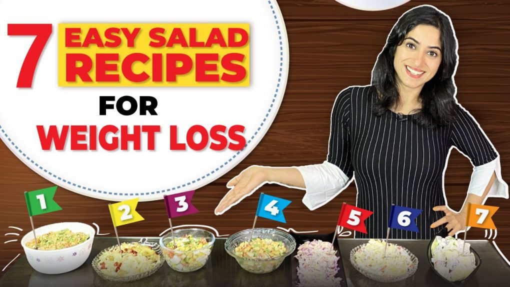 7 SALAD RECIPES for Weight Loss (EASY & HEALTHY)  By GunjanShouts