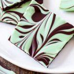 Easy Mint Chocolate Swirl Bark – one of the easiest treats you'll make!…