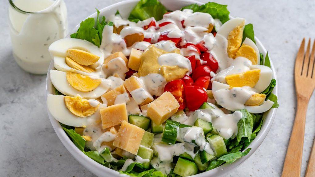Keto Vegetarian Club Salad Recipe