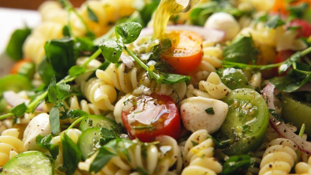 Easy Pasta Salad Recipe with Homemade Italian Dressing