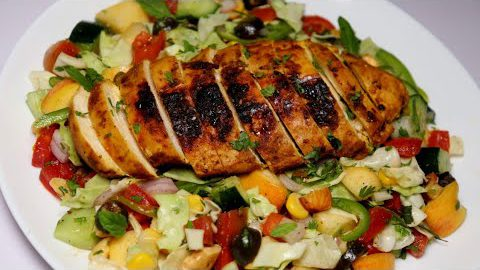 Grilled Chicken Salad, Healthy Salad Recipe (weight loss Recipe)