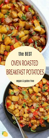 Easy and delicious, these vegan roasted breakfast potatoes are the perfect recip…