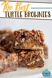 This recipe for Turtle Brownies are not only scrumptious, they are incredibly ea…