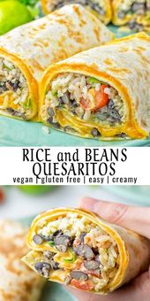 Rice and Beans Quesarito