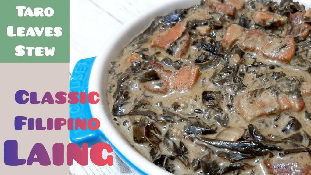 Classic Filipino LAING (Dried Taro Leaves in Coconut Milk) | Filipino Recipe | Len Inspires Ep 61