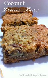 Coconut Dream Bars. A well deserved name! These dream bars are crazy good! Perfe…