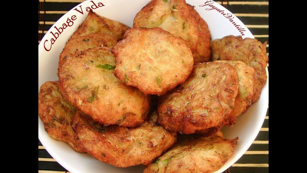 Cabbage Vada – Telugu Recipes – Andhra Vantalu – Indian Vegetarian Recipes